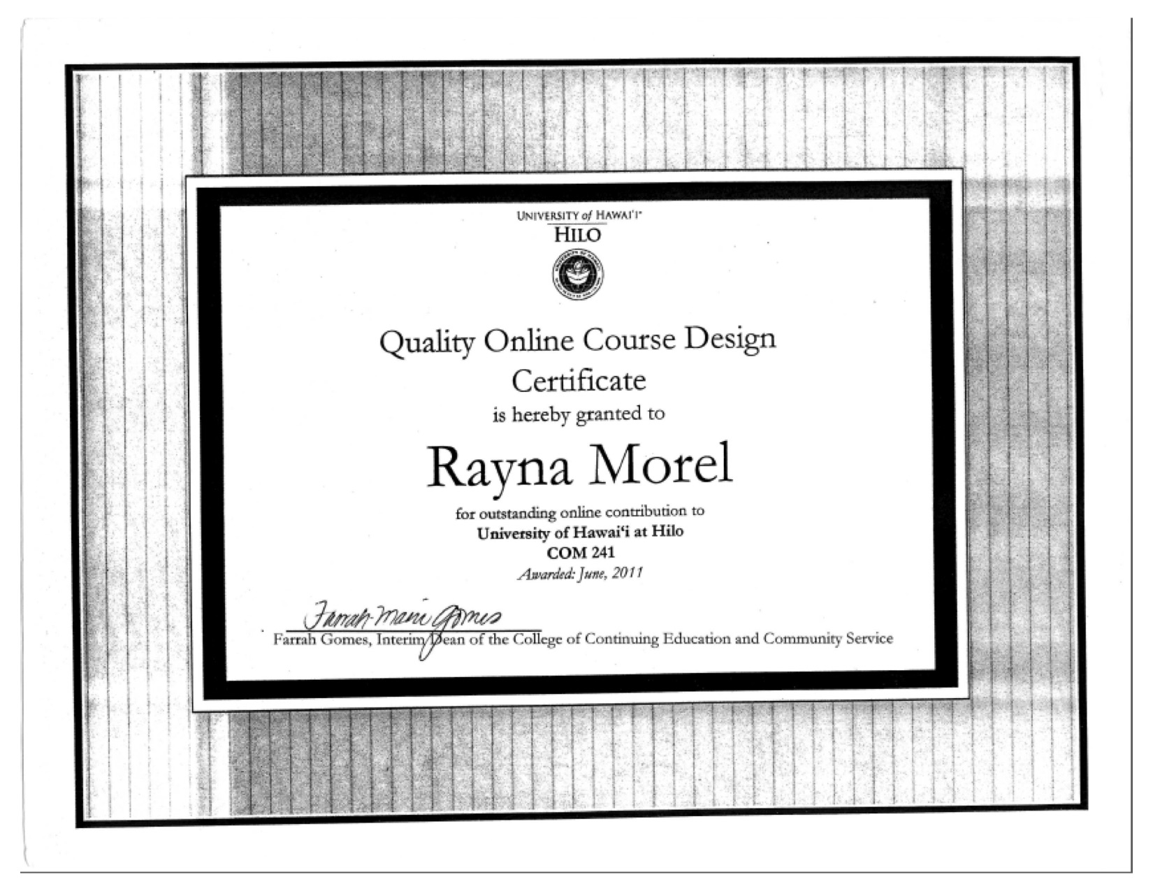 certified quality online courses