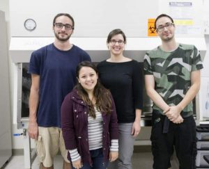 Photo of Jolene Sutton and student researchers