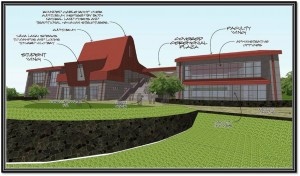Rendering of College of Hawaiian Language Building