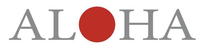 Logo with the word ALOHA