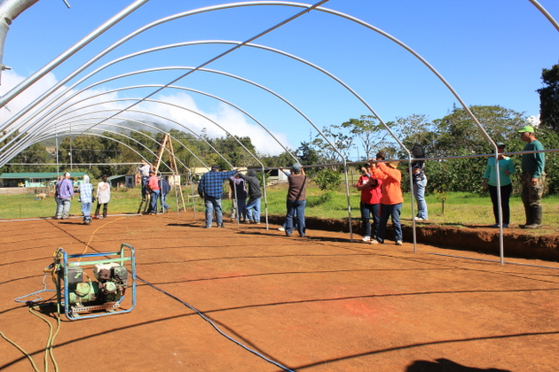 Training in greenhouse building and grants to pay for greenhouse materials for every participants who needs financial assistance are part of the extensive program.
