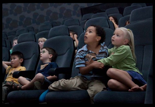 """Kindergartners and first graders are shocked and amazed at the """"Wildest Weather in the Solar System"""" in 'Imiloa's Planetarium."""