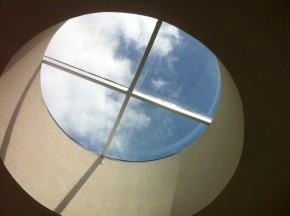 "The skylight is the ""piko"" or the center of the new College of Hawaiian Language building."