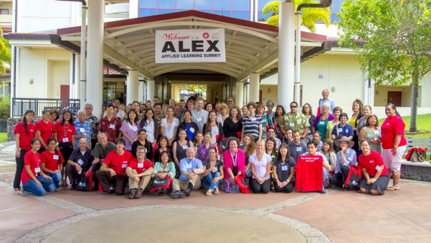 Participants in UH Hilo's 2013 Applied Learning Summit.