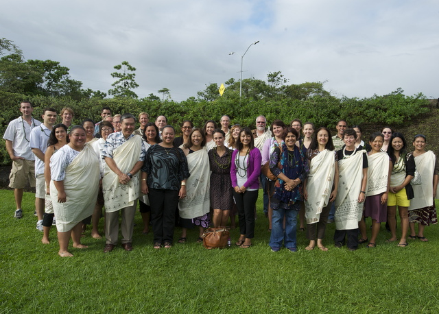 New faculty participating in orientation activities hosted by the Hanakahi Council.