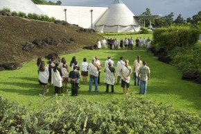 New faculty participate in welcome activity at UH Hilo 'Imiloa Astronomy Center.