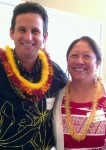 Hawaii U.S. Senator Brian Schatz with Gail Makuakāne-Lundin, executive assistant to the chancellor.