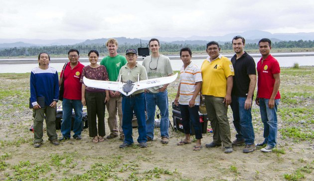 UAV team with researchers from Aklan State University.
