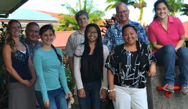 Members of SHYLI Job Shadow project visit with UH Hilo leadership.