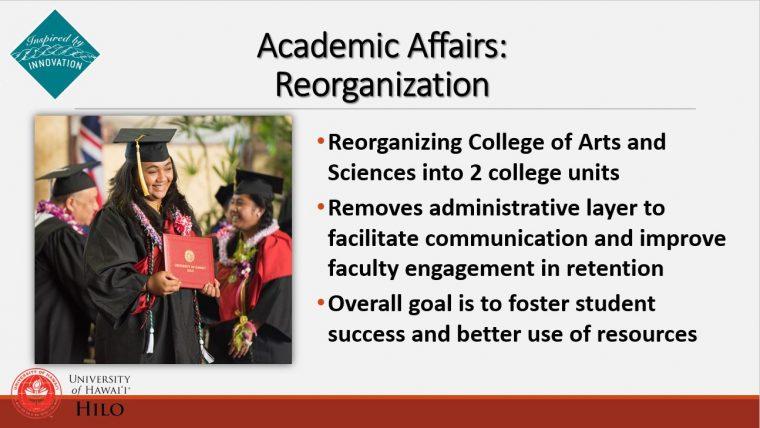Description of reorganizing colleges