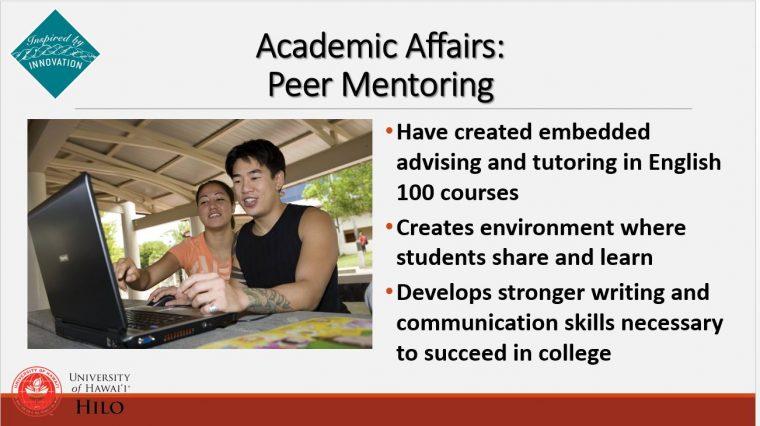 Peer mentoring slide