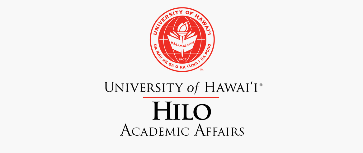 University seal with words: University of Hawaii at Hilo Academic Affairs
