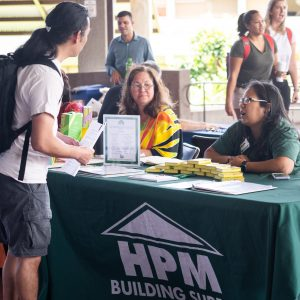 Krystle DeLosSantos of HPM at Career Fair