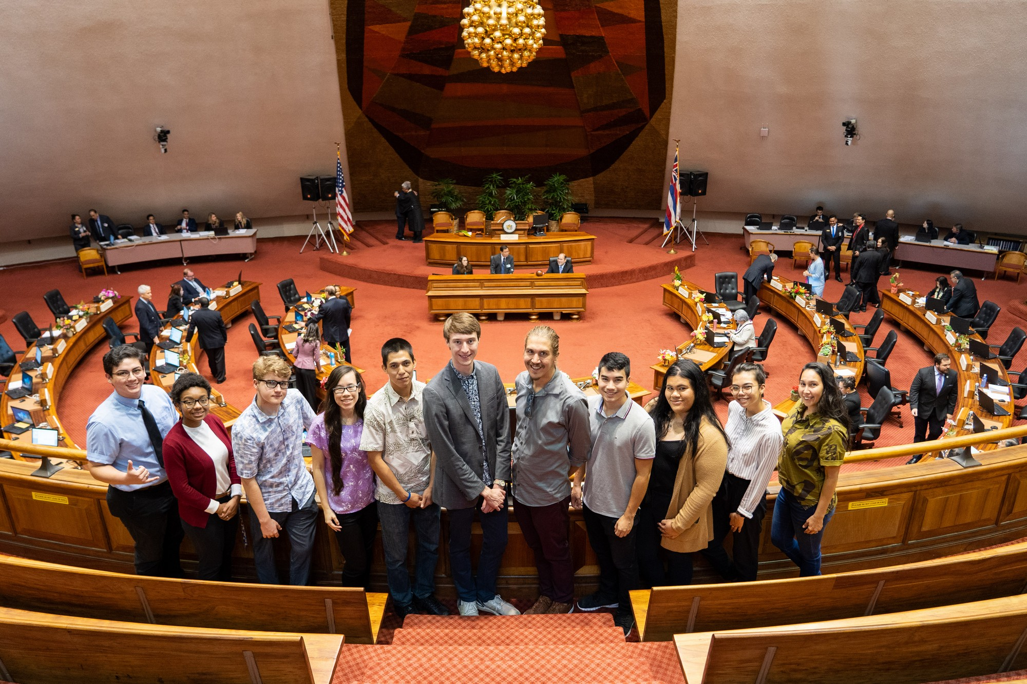 UHHSA Delegates in House Chambers