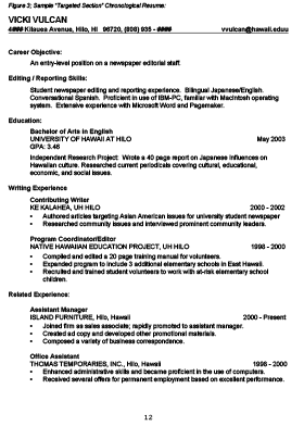 figure 2 chronological resume example resume template 3 - Resume Writing Guide