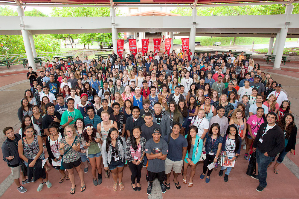 Group photo of cohort on the plaza.