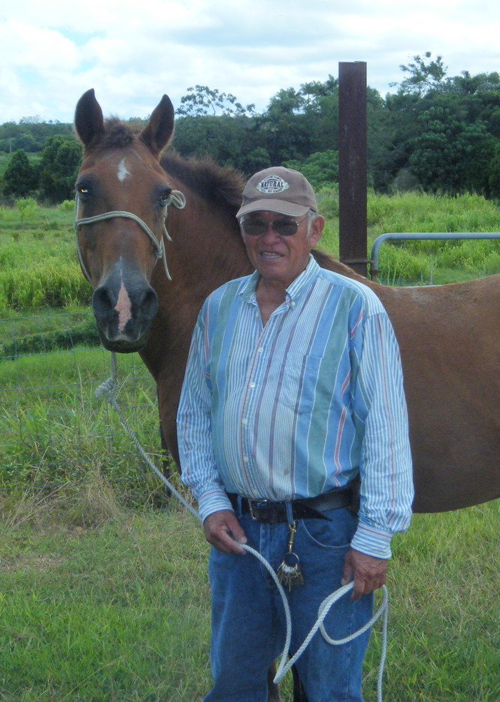 UH Hilo's livestock technician helps evacuate animals from path of lava flow