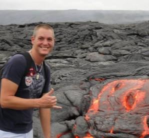 Neil Scheibelhut at lava flow.