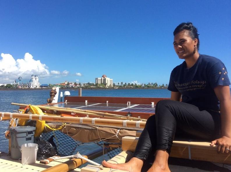 Pulling into port in Apia, Samoa