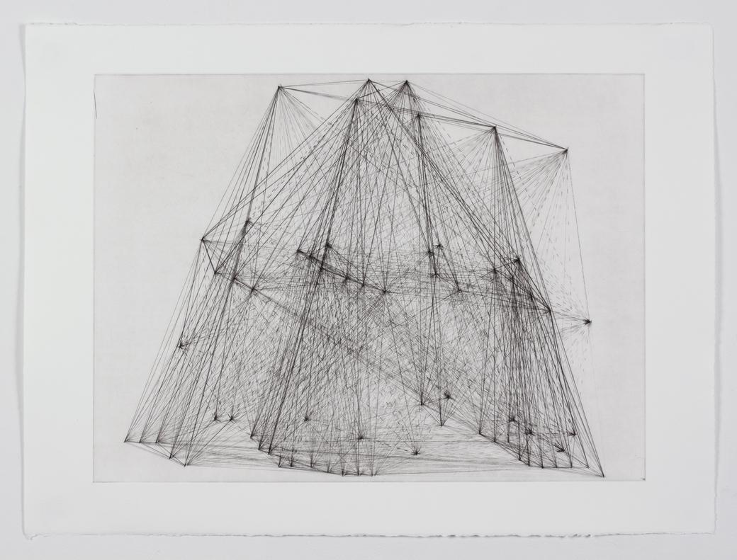 Geometric lines.
