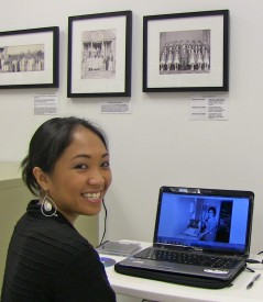 Doreen Manuel at a computer.