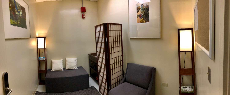 Interior of the UH Hilo lactation room in Campus Center