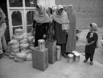 Women at open market.