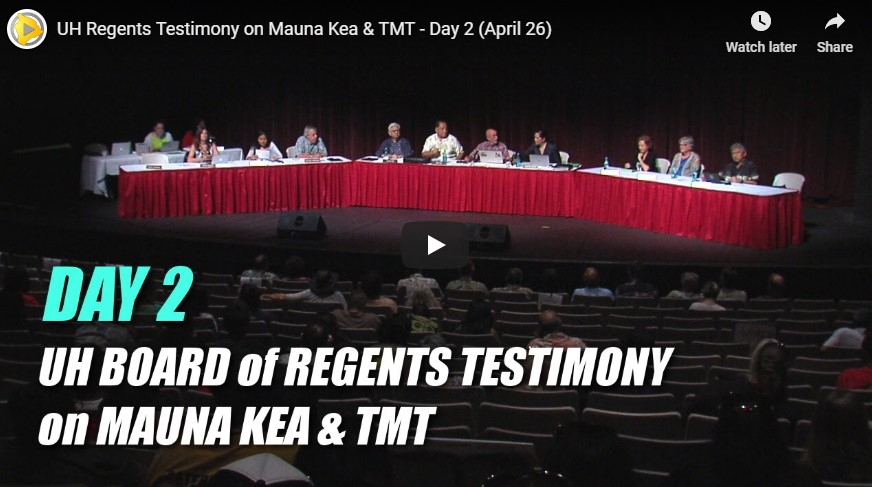 VIDEO: Second BOR meeting held at UH Hilo to hear testimony about Maunakea and TMT