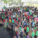Crowds gather on the Campus Center Plaza for Earth Day, UH Hilo