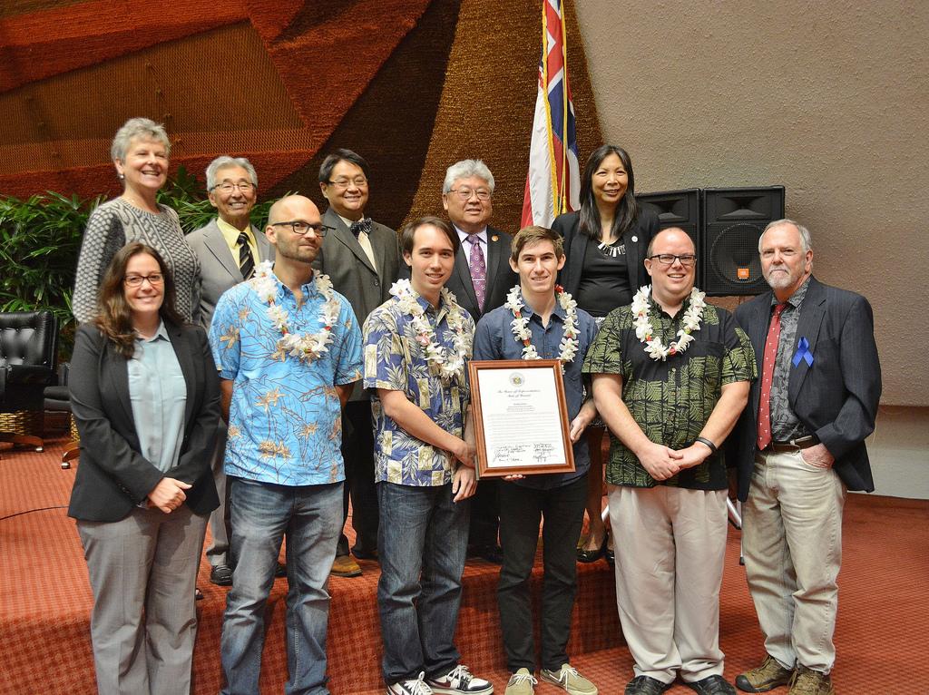 UH Hilo Team Hoku honored at Hawaiʻi State Capitol