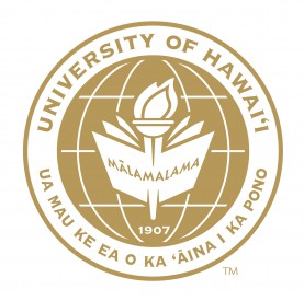 UH System seal in gold: UNIVERSITY OF HAWAII UA MAU KE EA O KA AINA I KA PONO. At center: MALAMALAMA with graphic of a book and flame.