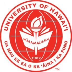 Red seal: UNIVERSITY OF HAWAII AT HILO UA MAU KE IEA O KA AINA I KA PONO. At the center: MALAMALAMA and graphic of a flame and book.