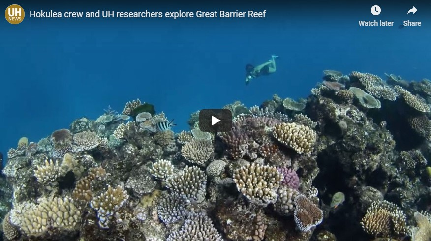 Hōkūleʻa crew and UH researchers explore Great Barrier Reef