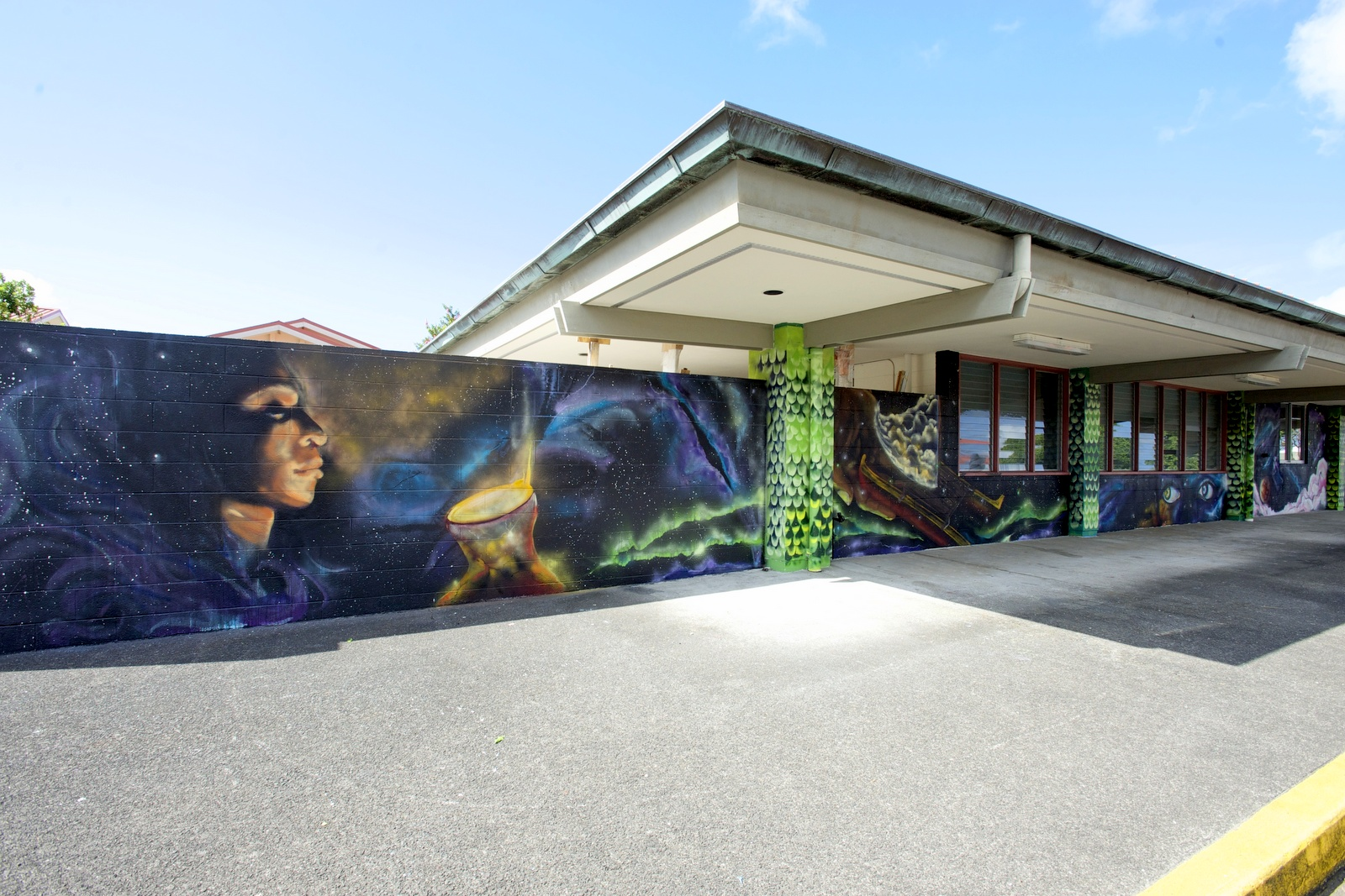 Photos uh hilo mele mural unveiled first mele mural in state to ipu kukui wall left amipublicfo Image collections