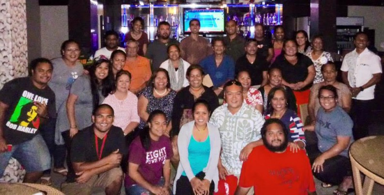 UH Hilo Belau ʻOhana Alumni Gathering, August 18, 2015, at The Field (alumni and current UH Hilo students).
