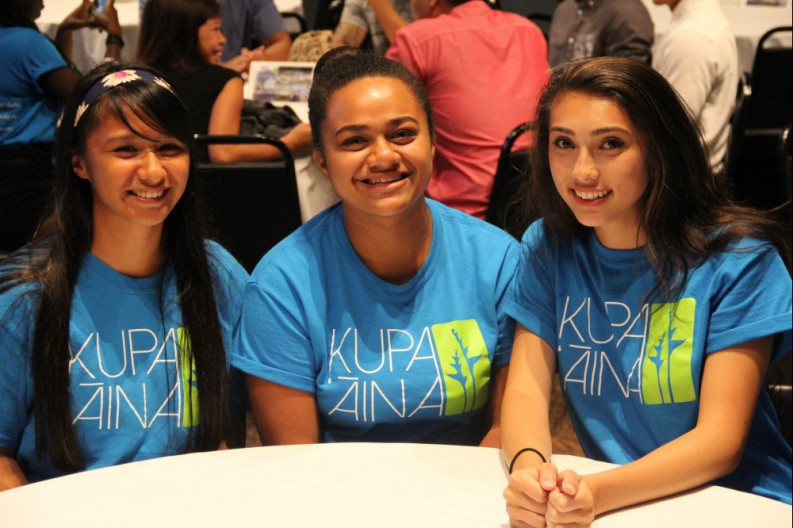 Kupa 'Āina students shared presentations on their experiences at the program's 'aha panina (closing gathering).