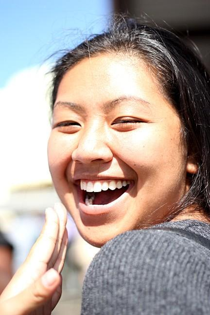 Danielle Takeshita, cute pose laughing.