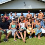 Group photo of class at canoe shack.