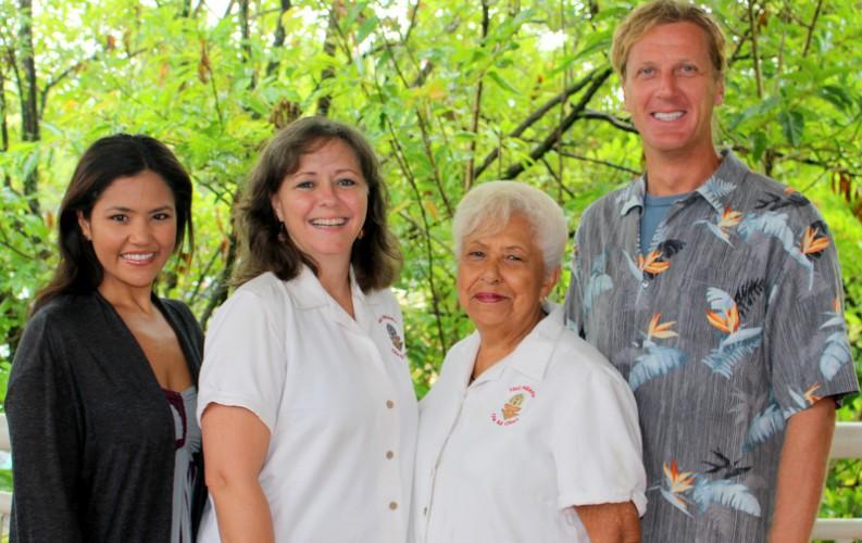 Misty Pacheco, Michelle Hiraishi, Mabel DeSilva, and Harald Barkhoff.