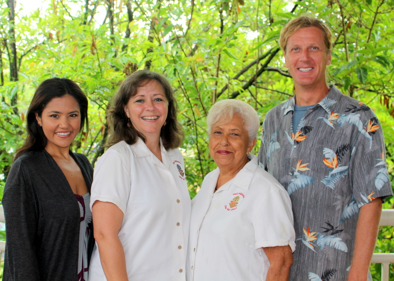 Misty Pacheco, Michelle Hiraishi, Mabel DeSilva, and Harald Barkhoff.