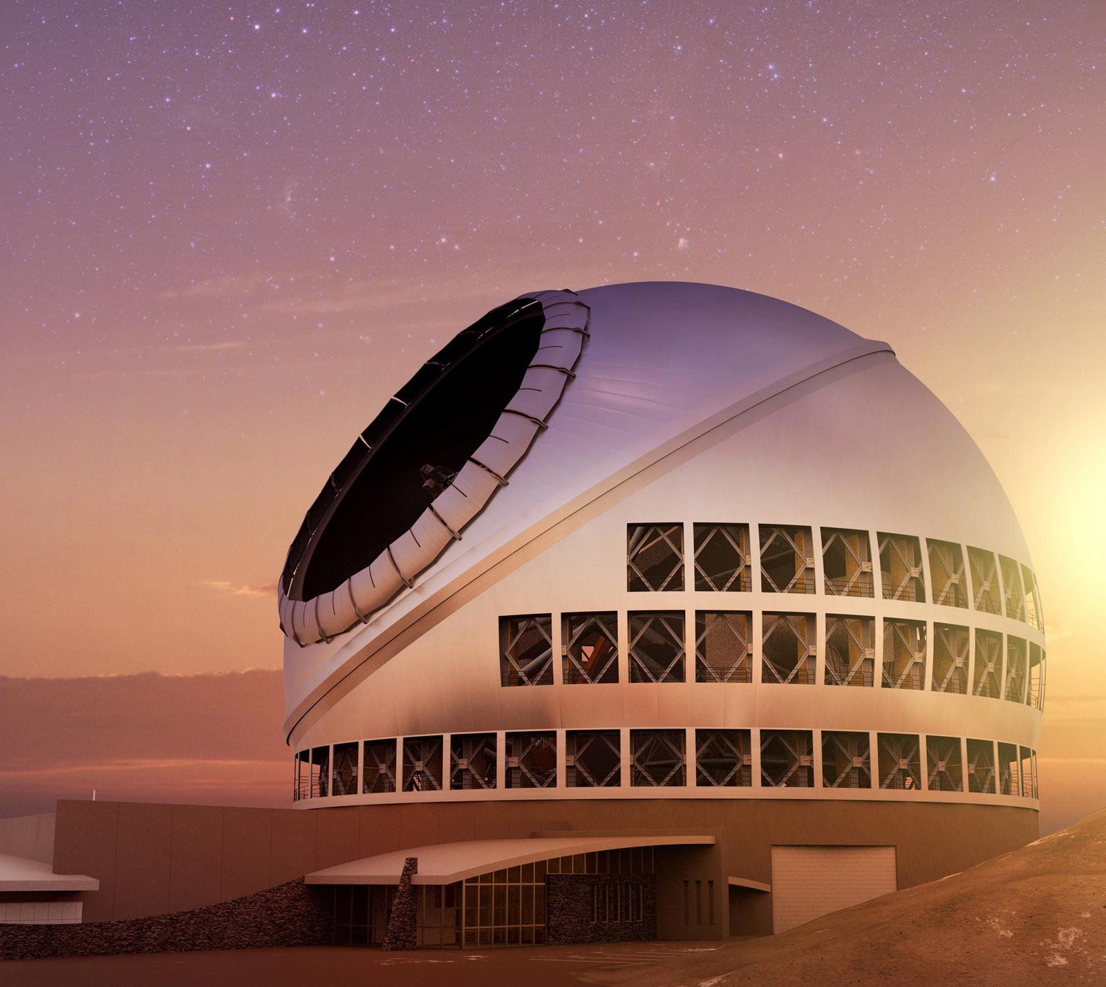 Rendering of the Thirty Meter Telescope.