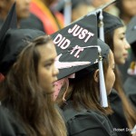"Mortarboard with ""Just Did It."""