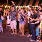 Audience dancing.