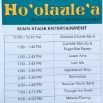 Schedule of performers.