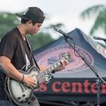 Man playing guitar.