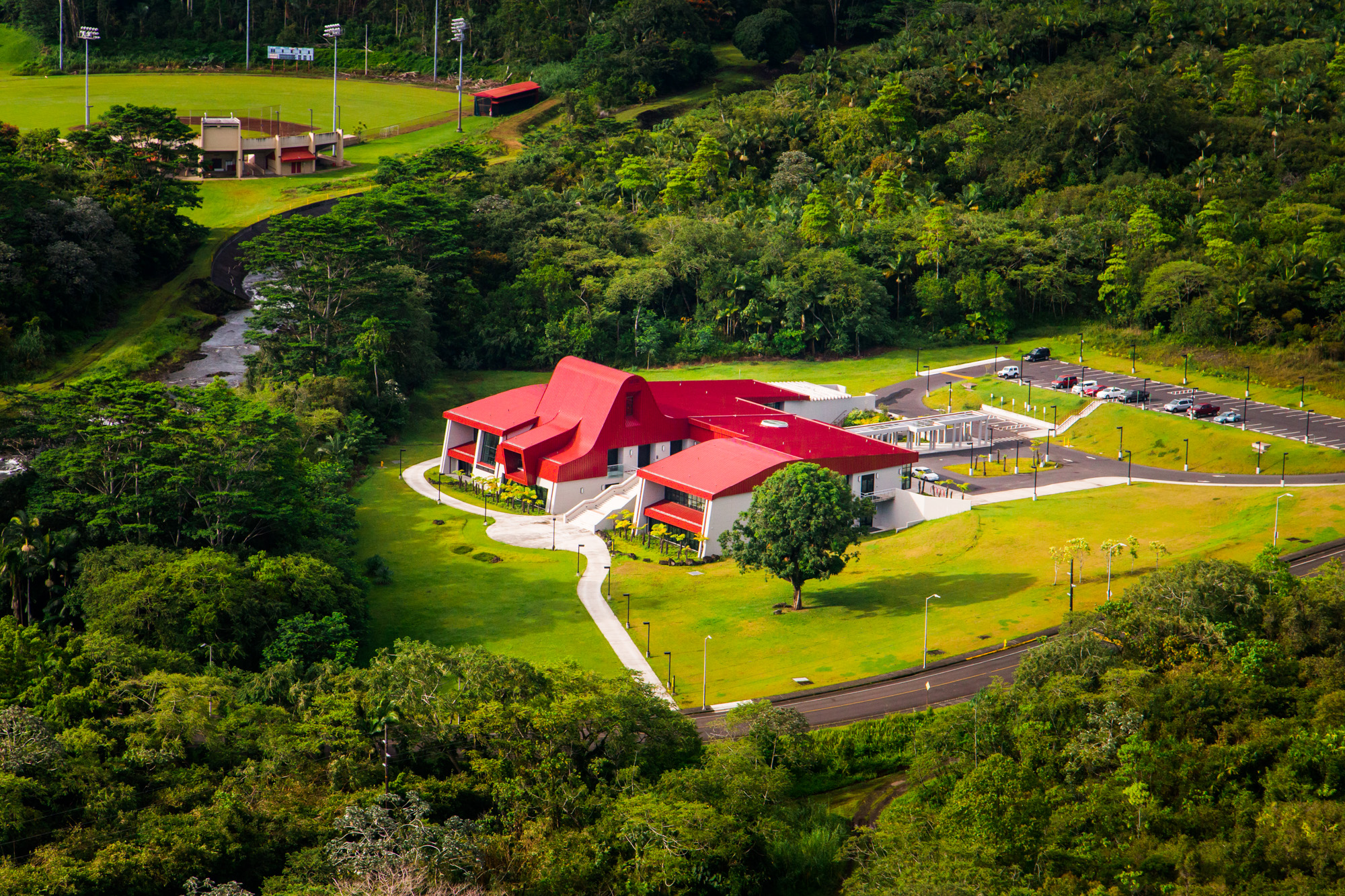 Aerial of Haleʻōlelo.