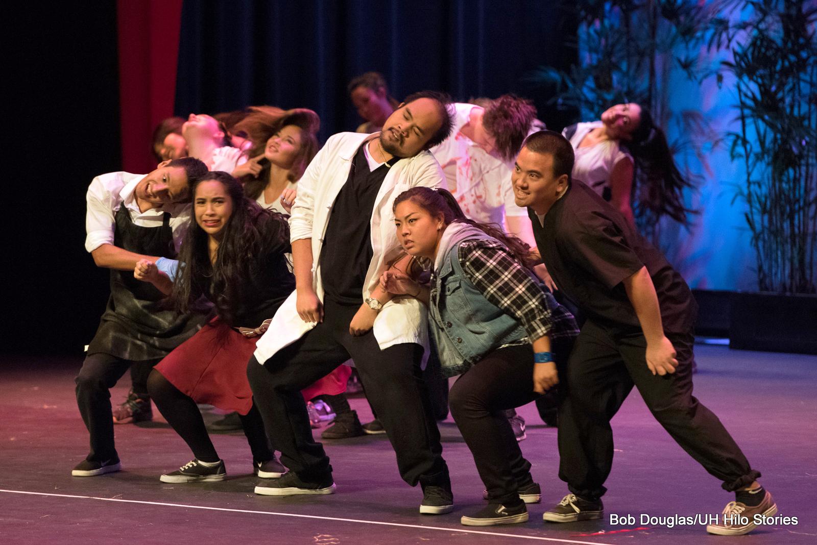 Dancers in modern garb.