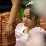 Young girl in Filipino attire.