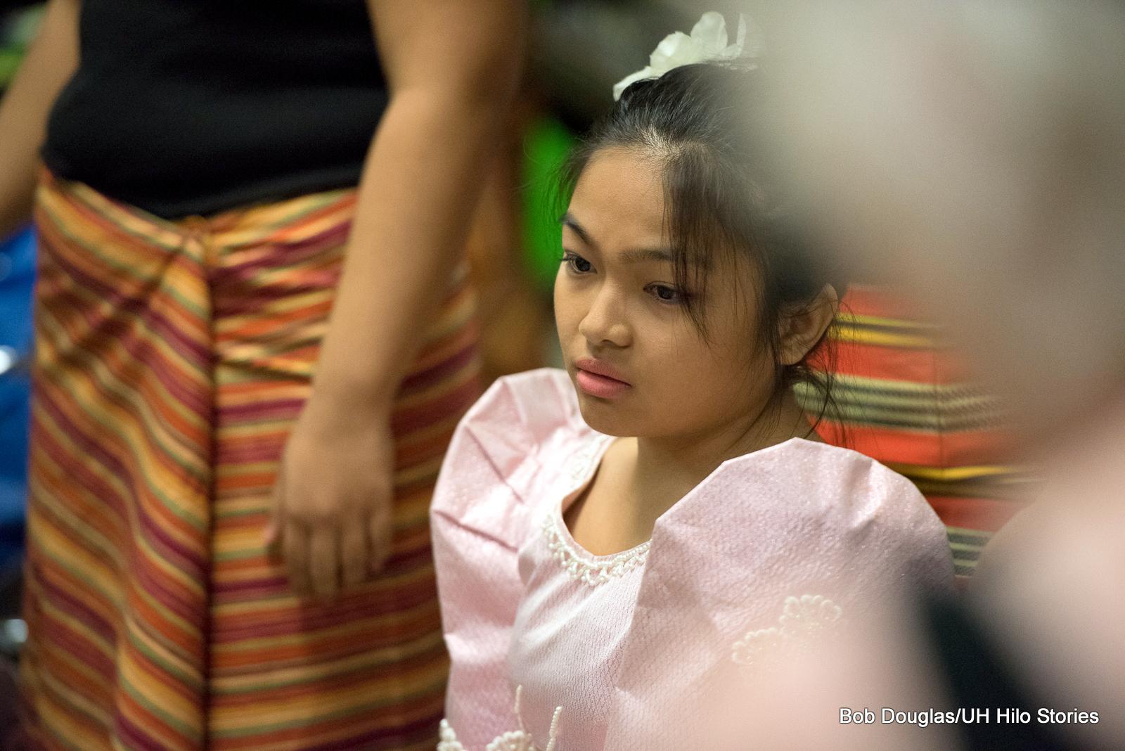 Young girl in Filipino attire.