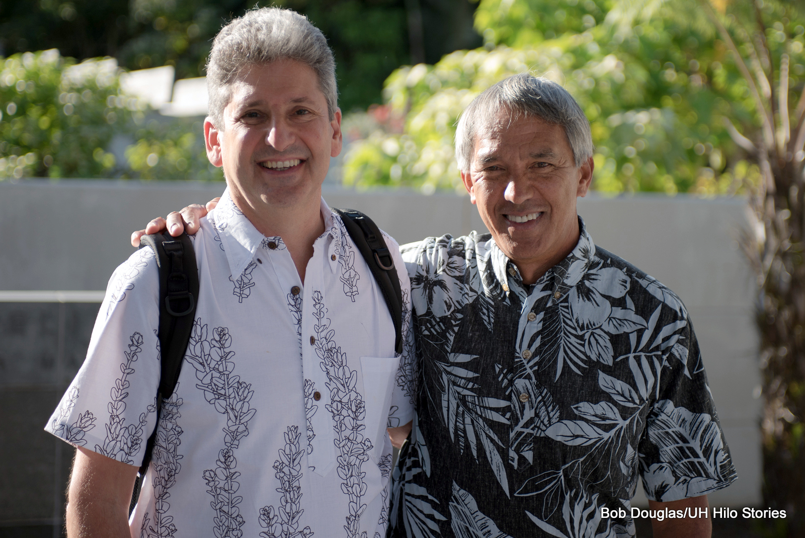 David Lassner and Nainoa Thompson.